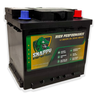 Snappy 012 Car Battery 52AH Advanced Calcium Technology 4 Year Warranty
