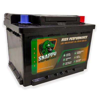 Snappy 027 Car Battery 60AH Advanced Calcium Technology 4 Year Warranty