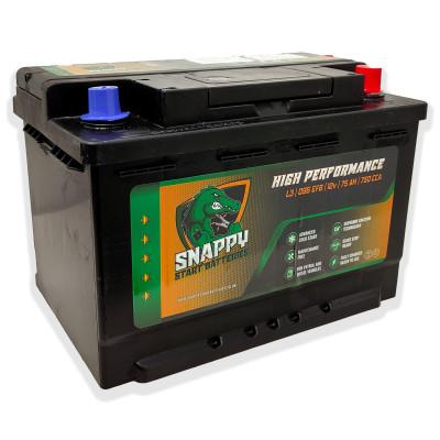 Snappy 096 Start/Stop Car Battery EFB 12v 75AH 4 Year Warranty