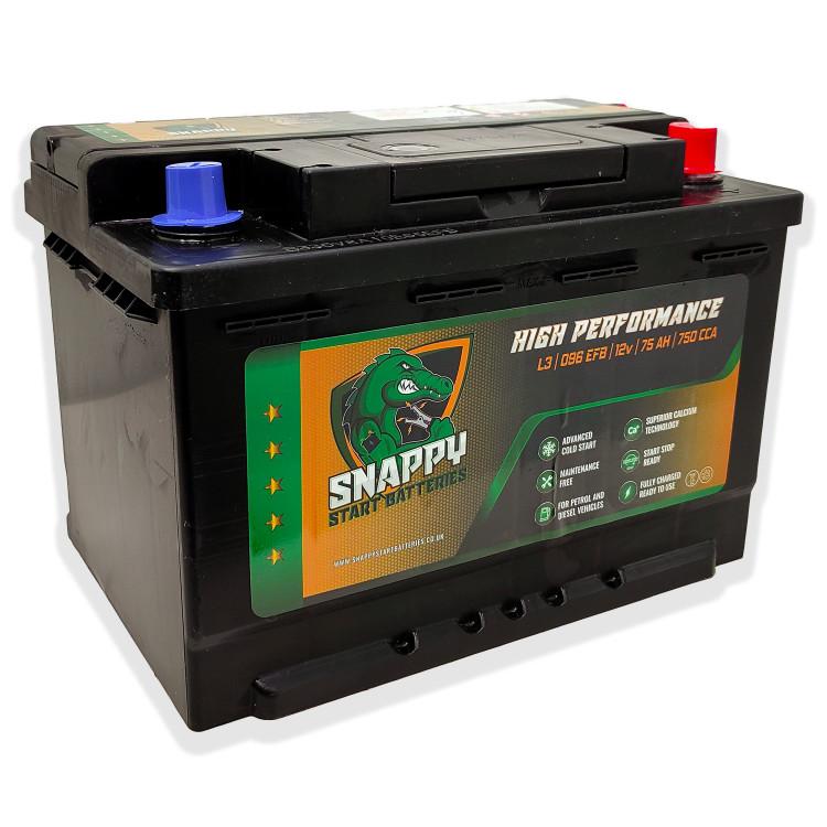Snappy 100 Start/Stop Car Battery EFB 12v 75AH 4 Year Warranty